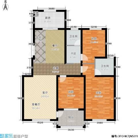 龙成・锦绣花园3室1厅2卫1厨147.00㎡户型图