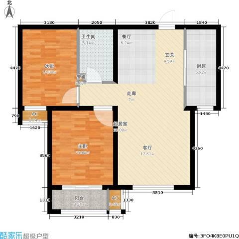 安联水晶坊2室0厅1卫1厨89.00㎡户型图