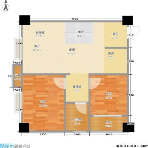 海角八号2室0厅1卫0厨70.00㎡户型图