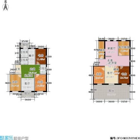 龙腾金荷苑5室0厅3卫0厨225.30㎡户型图