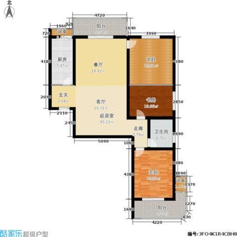 钟秀花园3室0厅1卫1厨159.00㎡户型图