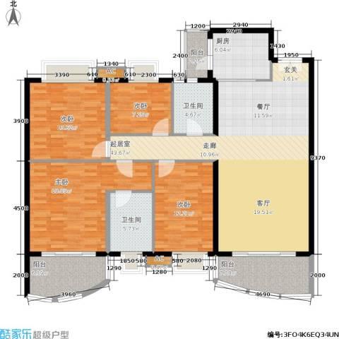 东逸翠苑4室0厅2卫1厨145.04㎡户型图