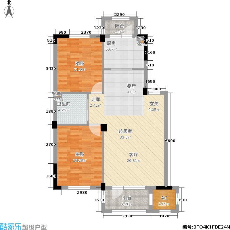 澳海澜庭87.00㎡三期11/14/15/19/20号楼D1户型
