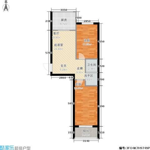 学子园2室0厅1卫1厨87.00㎡户型图