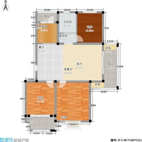 维多莉雅花苑3室1厅1卫0厨145.00㎡户型图