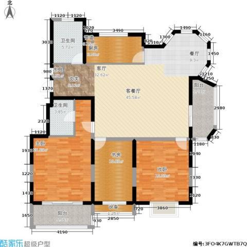 维多莉雅花苑3室1厅2卫1厨171.00㎡户型图