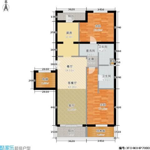 维多莉亚花园公寓2室1厅2卫0厨135.00㎡户型图