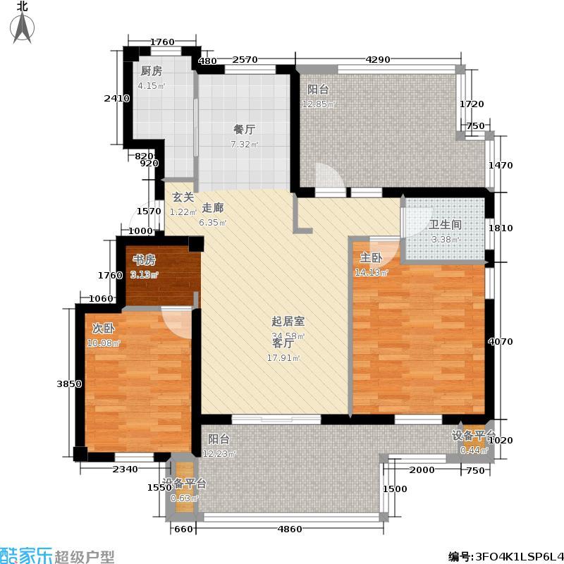 金地格林世界111.00㎡润九园户型2室2厅