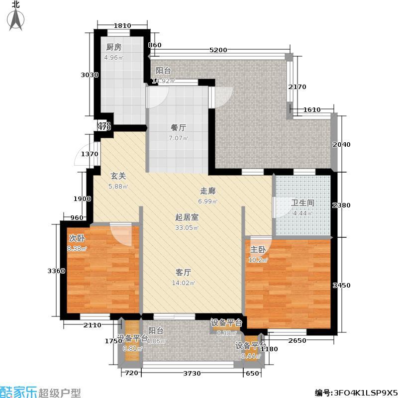 金地格林世界96.00㎡户型2室2厅