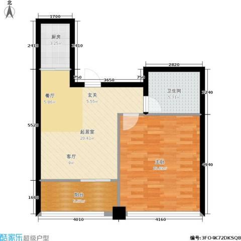 龙海国际1室0厅1卫1厨60.00㎡户型图