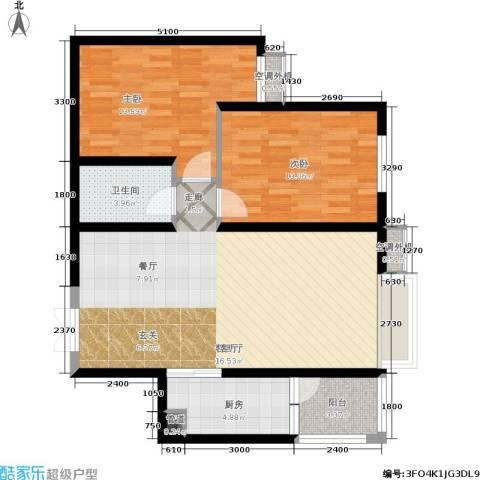 阳光台3652室1厅1卫1厨95.00㎡户型图
