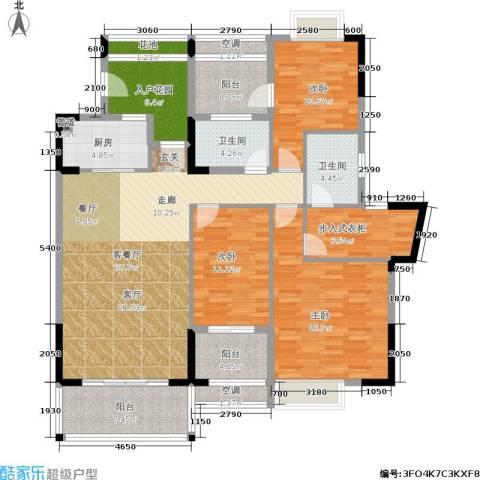 广物锦绣东方3室1厅2卫1厨179.00㎡户型图