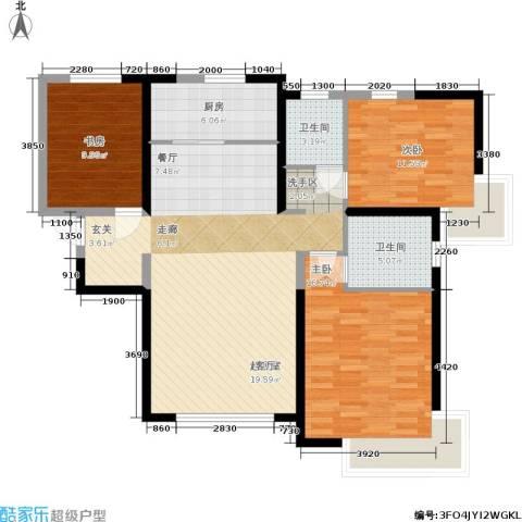 雅仕兰庭3室0厅2卫1厨138.00㎡户型图
