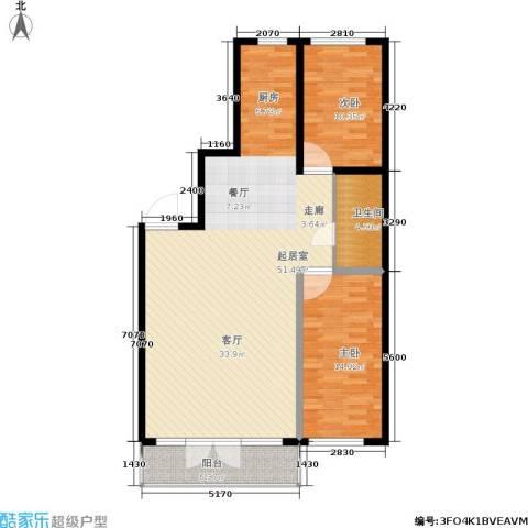 民乐观澜时代2室0厅1卫0厨120.00㎡户型图