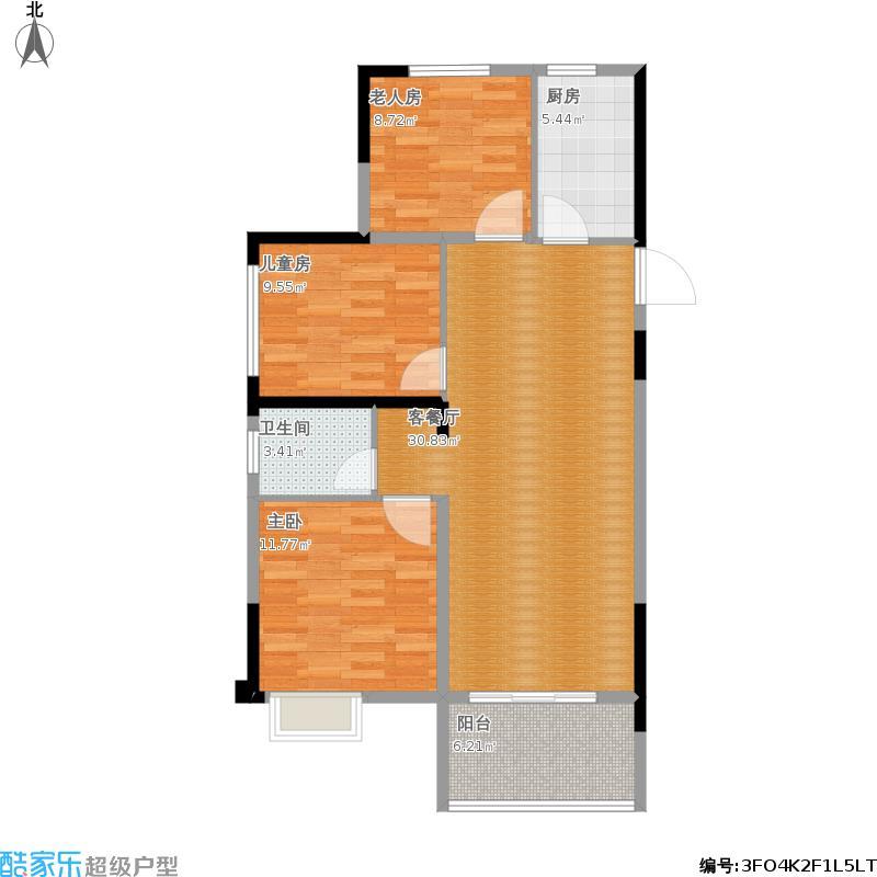 边户97平三室两厅