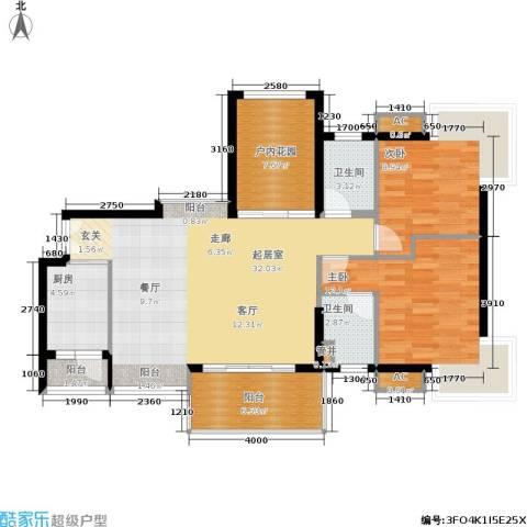 永江国际公馆2室0厅2卫1厨115.00㎡户型图