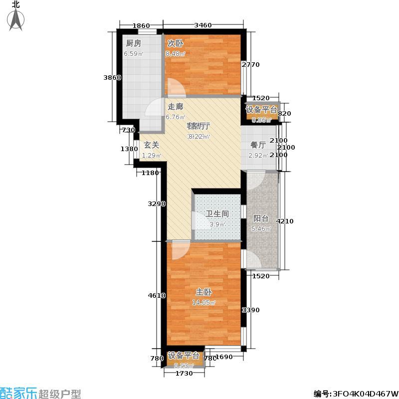 沿海赛洛城79.00㎡二期B14楼GE户面积7900m户型