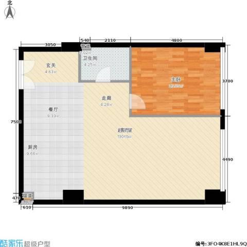 新时代广场1室0厅1卫0厨115.00㎡户型图