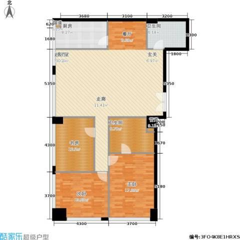 新时代广场3室0厅2卫1厨187.00㎡户型图