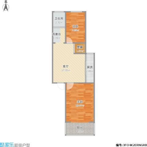 东妙峰庵小区2室1厅1卫1厨68.00㎡户型图