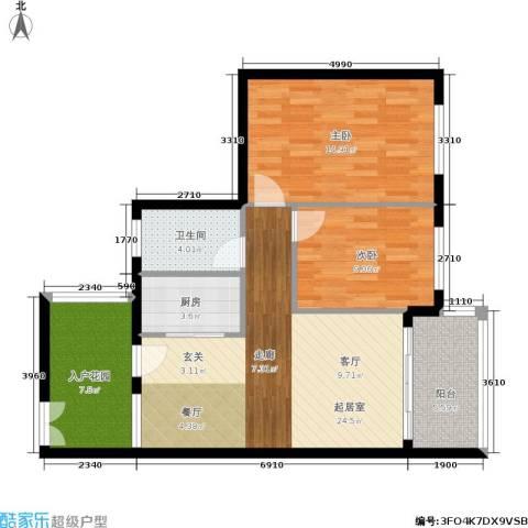 福祉家园二期2室0厅1卫1厨78.00㎡户型图