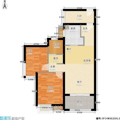 万科紫台2室0厅1卫1厨95.00㎡户型图