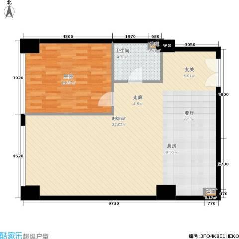 新时代广场1室0厅1卫0厨118.00㎡户型图