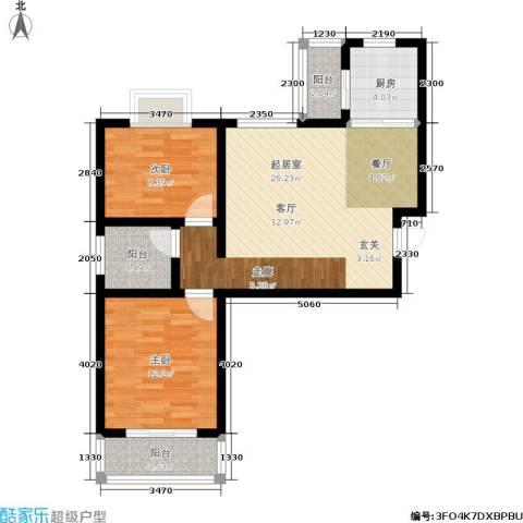 福祉家园二期2室0厅0卫1厨70.00㎡户型图