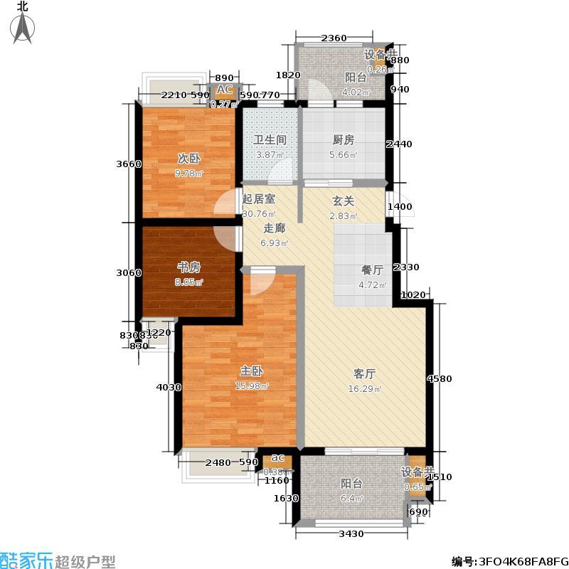 东投阳光城99.38㎡22#23#25#18#BA户型3室2厅1卫