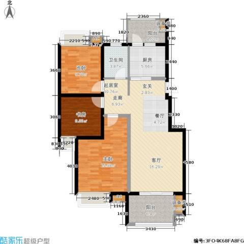 东投阳光城3室0厅1卫1厨99.00㎡户型图