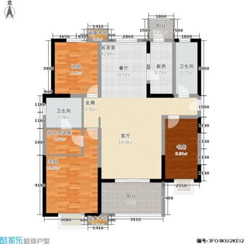 贻成・御景国际3室0厅2卫1厨164.00㎡户型图