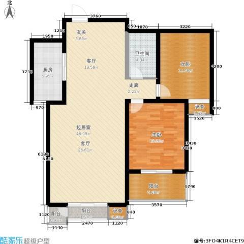 钟秀花园2室0厅1卫1厨129.00㎡户型图