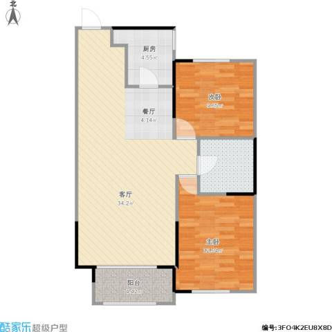 嘉惠第五园2室1厅1卫1厨94.00㎡户型图
