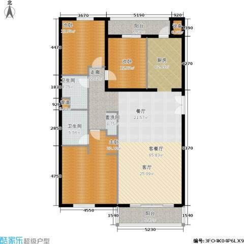 维多莉亚花园公寓3室1厅2卫0厨154.00㎡户型图