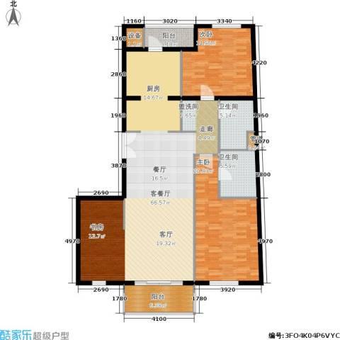 维多莉亚花园公寓2室1厅2卫0厨136.00㎡户型图