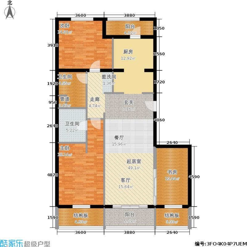维多莉亚花园公寓135.11㎡A4户型