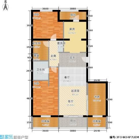 维多莉亚花园公寓3室0厅2卫0厨135.00㎡户型图