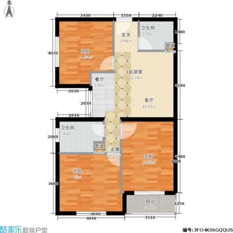 长安壹线3室0厅2卫0厨82.00㎡户型图