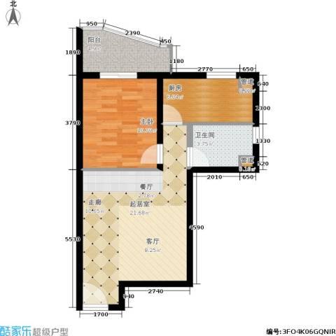长安壹线1室0厅1卫1厨56.00㎡户型图