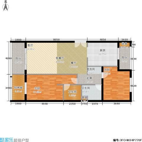 维多莉亚花园公寓2室1厅2卫0厨121.00㎡户型图