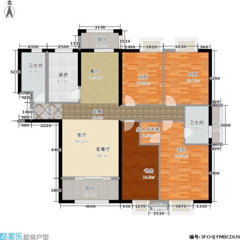 罗马景福城4室1厅2卫1厨184.00㎡户型图