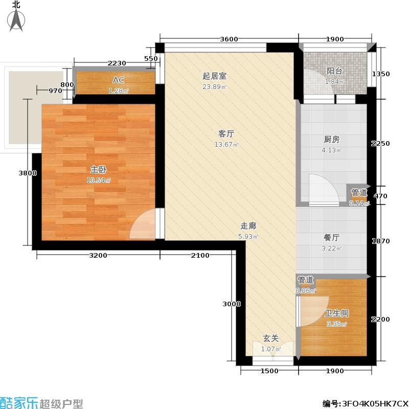 北京新天地66.51㎡二期13号楼A(售罄)户型