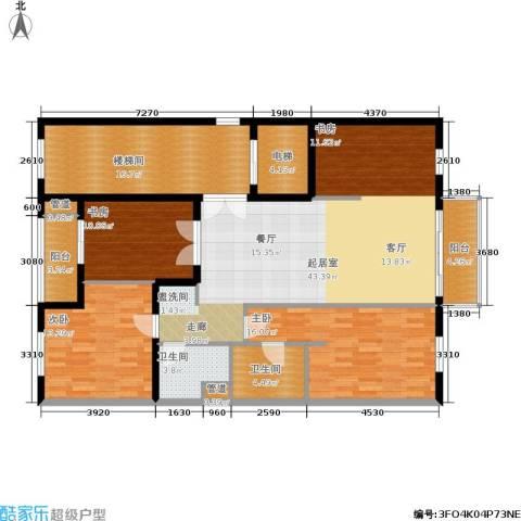 维多莉亚花园公寓3室0厅2卫0厨136.00㎡户型图