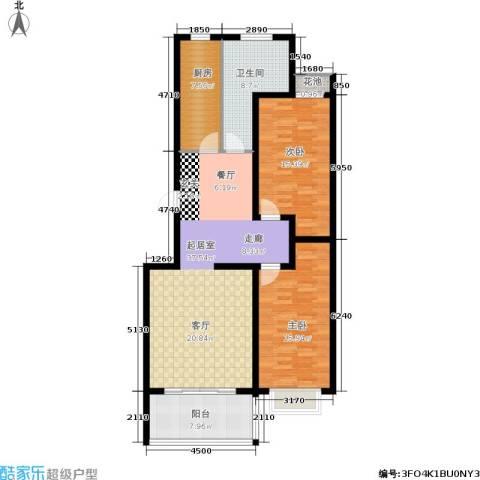天筑新都花园2室0厅1卫1厨134.00㎡户型图