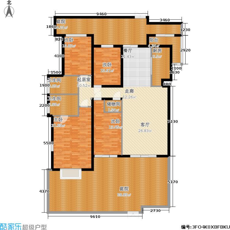 锦绣天下140.00㎡标准层C1户型4室2厅