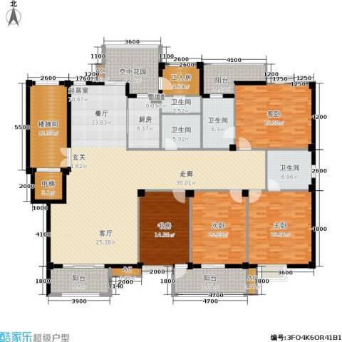 东源北院(五凤山名居)4室0厅4卫1厨298.00㎡户型图