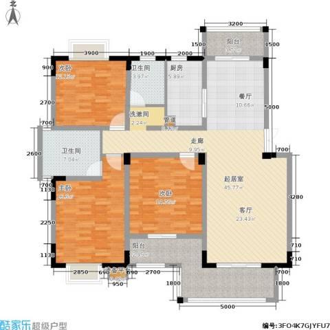 富地中心3室0厅2卫1厨176.00㎡户型图