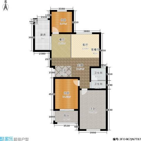 龙成・锦绣花园3室1厅2卫1厨119.00㎡户型图