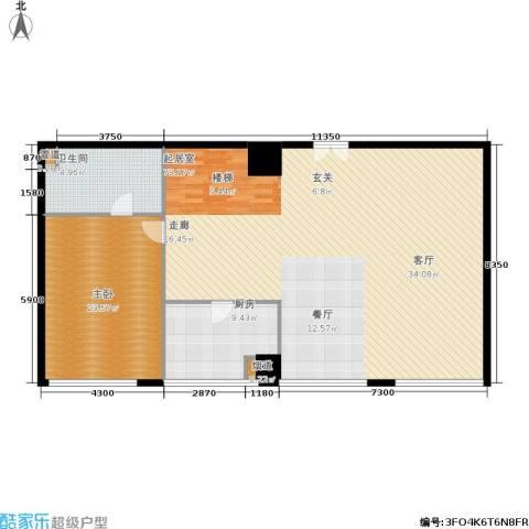 新时代广场1室0厅1卫1厨350.00㎡户型图