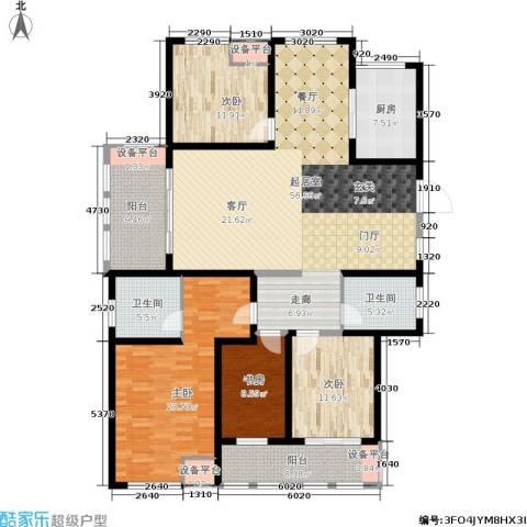 中天锦庭4室0厅2卫1厨174.00㎡户型图